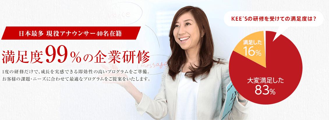 話し方研修で企業を変革~現役アナウンサー40名在籍